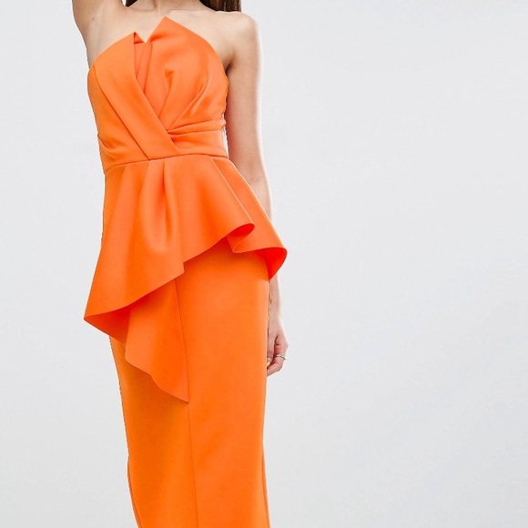 323fa693df2 ASOS Dresses | Orange Cocktail Dress Design | Poshmark